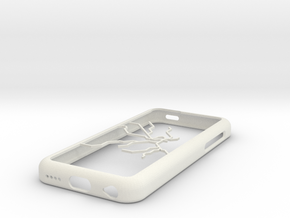 Stockholm Metro map iPhone 5c case in White Strong & Flexible