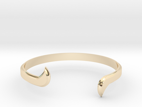 Thin Winged Cuff in 14k Gold Plated Brass