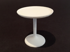 20 Dia Side Table 1:12 scale in White Natural Versatile Plastic