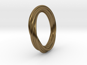 Twisted ring in Polished Bronze