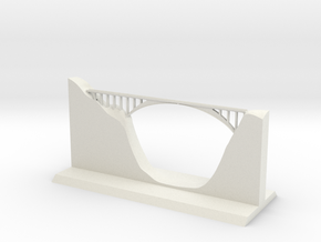 Salginatobel Bridge 1:250 in White Strong & Flexible