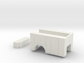 1/64 s scale service body in White Natural Versatile Plastic