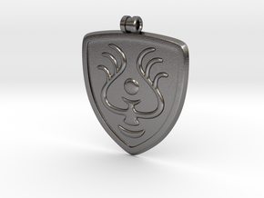 Laputian Seal Pendant in Polished Nickel Steel