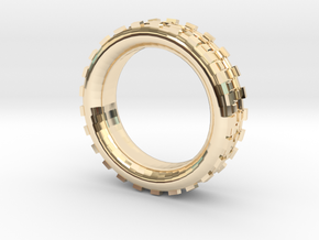 Mechawheel Ring - Size 7 in 14k Gold Plated Brass