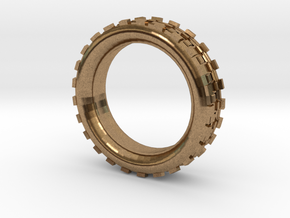 Mechawheel Ring - Size 7 in Natural Brass