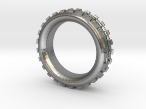 Mechawheel Ring - Size 7 in Natural Silver