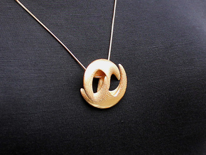 Evren Pendant (#1513) in Polished Gold Steel