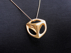 Correttus Pendant (#1675) in Polished Gold Steel