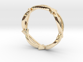 Jesus Fish Eternity Style Ring size 7 in 14k Gold Plated Brass
