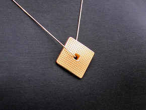 Feel Plus Pendant (#2244) in Matte Gold Steel