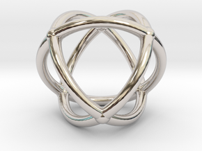 0072 Stereographic Polyhedra - Octahedron in Rhodium Plated Brass
