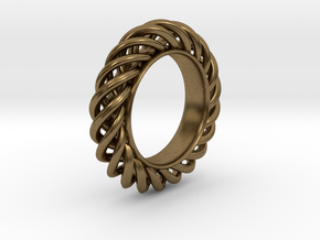 Spiral Ring Size 7 in Natural Bronze