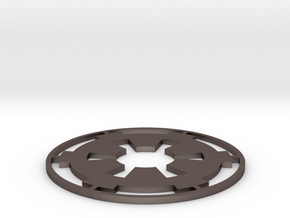 "Imperial Coaster - 4"" in Polished Bronzed Silver Steel"