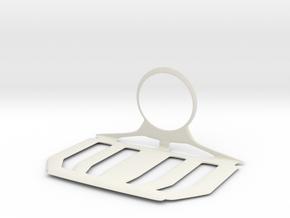 Charger Hanger in White Natural Versatile Plastic