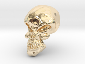 Little Scary Skull in 14k Gold Plated Brass