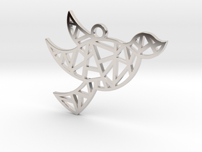 Dove's Nest in Rhodium Plated Brass