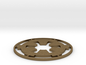 "Imperial Coaster - 3.5"" in Natural Bronze"