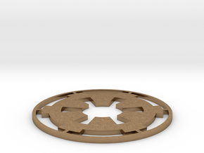 """Imperial Coaster - 3.5"""" in Natural Brass"""