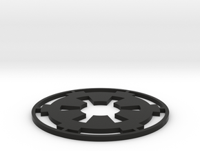 "Imperial Coaster - 3.5"" in Black Natural Versatile Plastic"