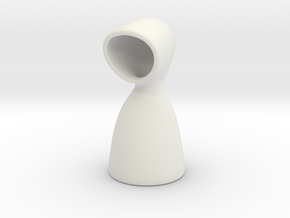 Hooded Vase in White Natural Versatile Plastic