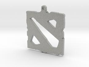Dota 2 - Logo Pendant in Metallic Plastic