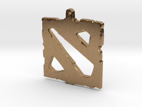 Dota 2 - Logo Pendant in Natural Brass