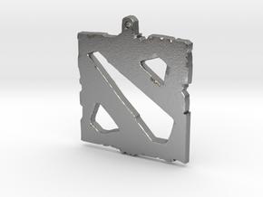 Dota 2 - Logo Pendant in Raw Silver