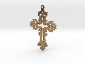 Dracula Untold Cross in Natural Brass