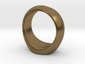 MTG Swamp Mana Ring (Size 12) in Natural Bronze