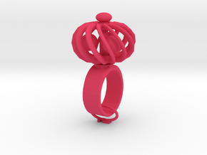 Turbine Fidget Ring in Pink Strong & Flexible Polished: 5 / 49