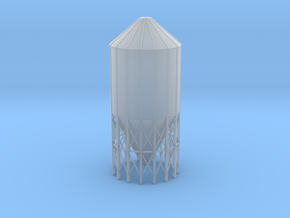'N Scale' - 60 Deg.-24' dia. x 55' Grain Bin in Smooth Fine Detail Plastic