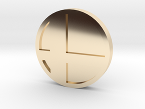 Super Smash Brothers Coin in 14K Yellow Gold