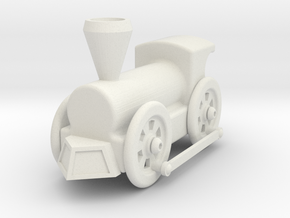 Creo - Train Model in White Natural Versatile Plastic