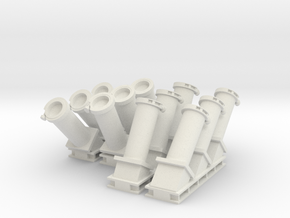 1:48 scale MK 36 SRBOC Chaff Launchers in White Natural Versatile Plastic