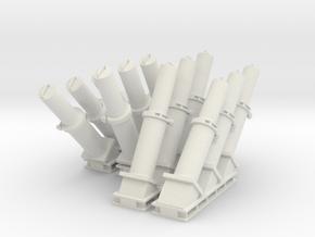 1:48 scale MK 36 SRBOC Loaded Chaff Launcher in White Natural Versatile Plastic