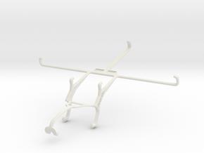Controller mount for Xbox 360 & Dell Venue 8 Pro in White Natural Versatile Plastic
