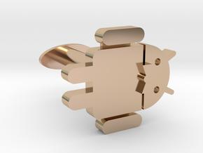 Android Cufflink / Antennas reinforced in 14k Rose Gold