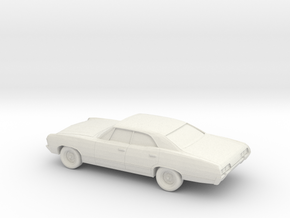 1/87 1967 Chevrolet Impala Sedan in White Natural Versatile Plastic