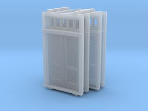 N Scale Booking Station Standard Door Set in Smooth Fine Detail Plastic