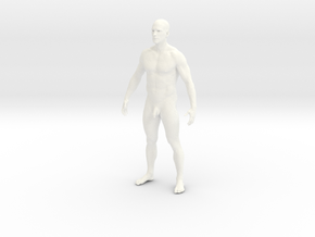 Man body in White Strong & Flexible Polished
