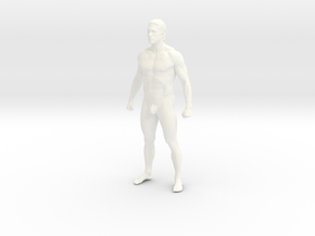 Man body in 8cm Passed in White Processed Versatile Plastic