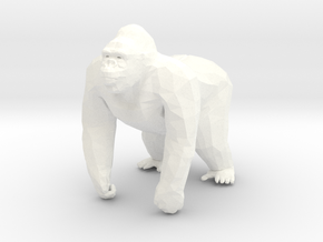 Gorilla in 5cm Passed in White Processed Versatile Plastic