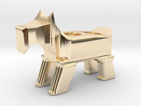 Terrier Pencil Holder in 14k Gold Plated Brass