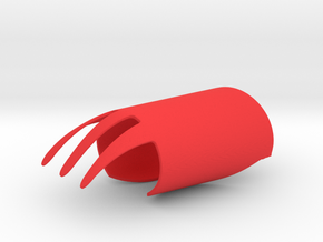 Finger Fork in Red Processed Versatile Plastic
