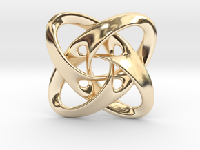 Sphere eversion (big version) in 14K Yellow Gold