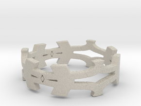 Shapes Ring Size 8 in Natural Sandstone
