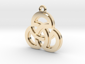 """Sacred Symmetry"" Pendant, Cast Metal in 14K Yellow Gold"