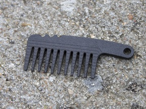 Mini Beard Comb in Matte Black Steel