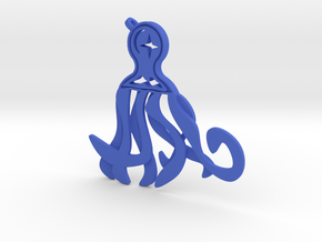 Midnight Octopus in Blue Processed Versatile Plastic