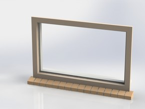 Window 020 in White Natural Versatile Plastic